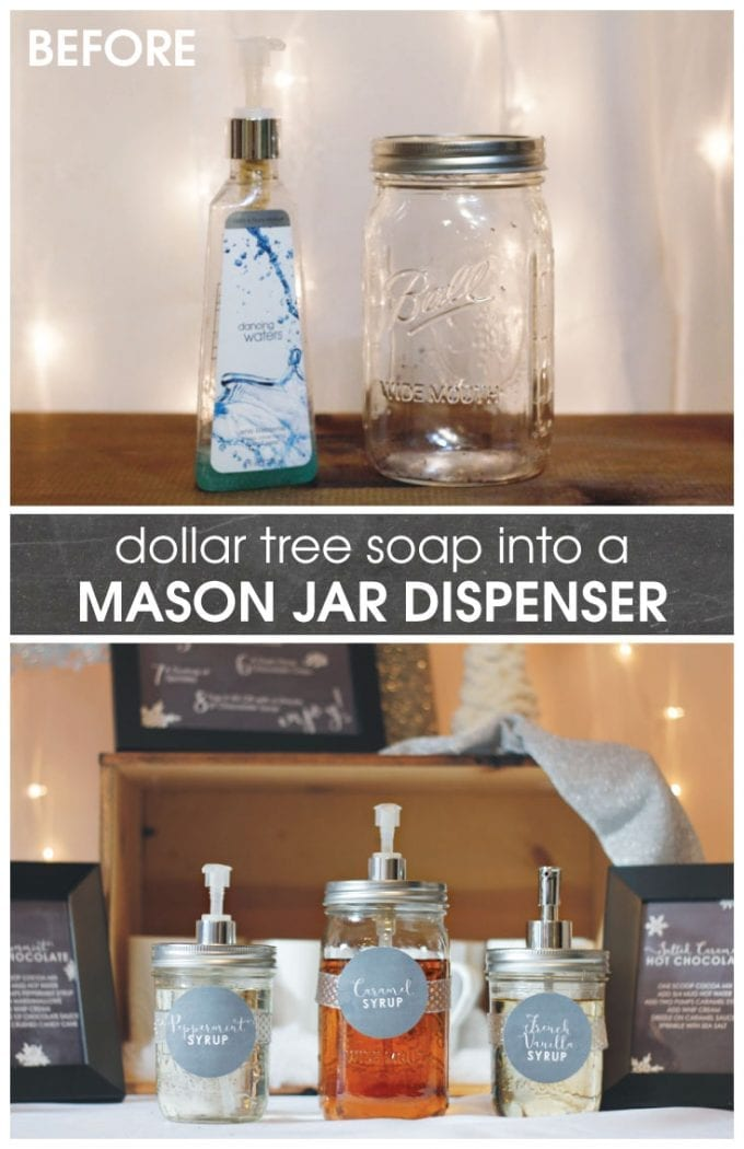 Learn how to make a DIY mason jar dispenser.