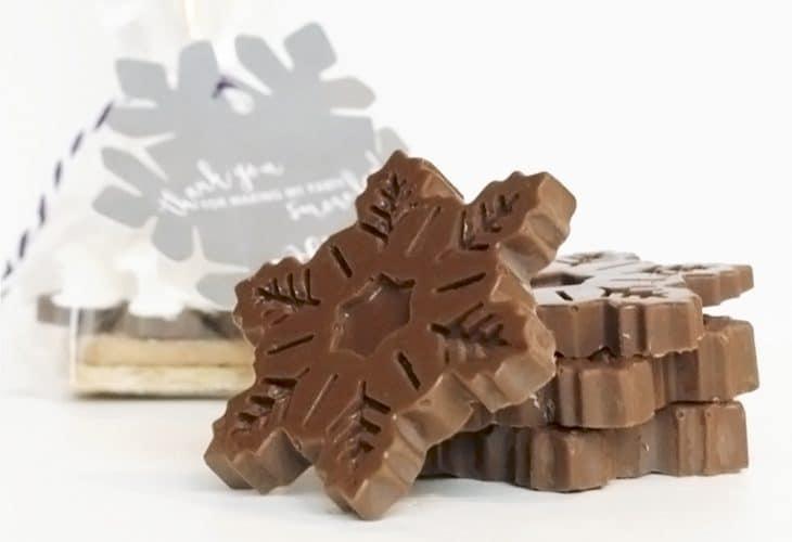Chocolate snowflakes image