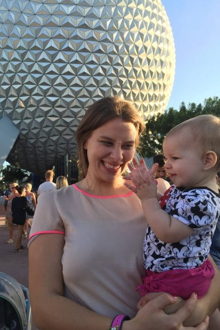 Woman and baby at Epcot image.