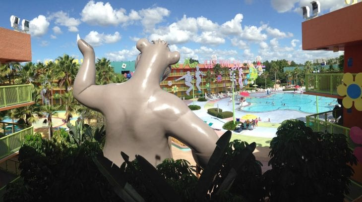 Picture of Disney pool image.