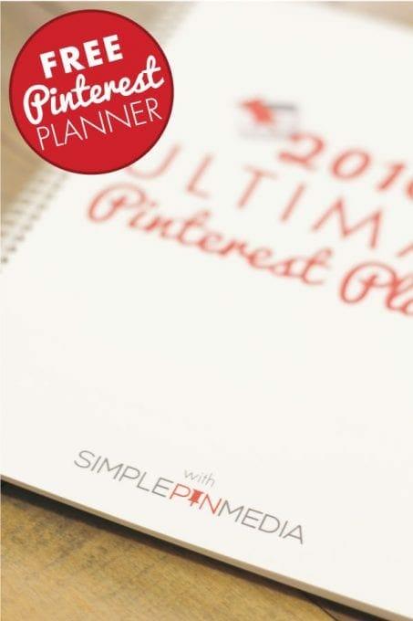 FREE 2016 Ultimate Pinterest Planner image.