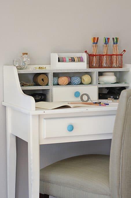 Craft storage desk image.