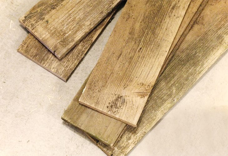 Pieces of wood image.