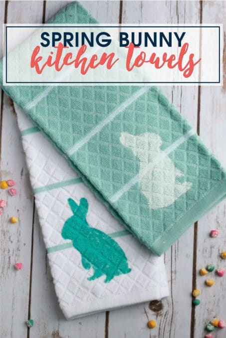 Make these simple DIY Spring kitchen towels with this FREE cut file. Whip these up in less than 10 minutes!