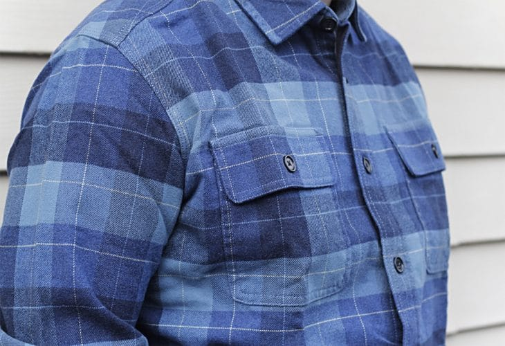 Man's flannel shirt image.