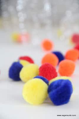 Colorful pom poms image.