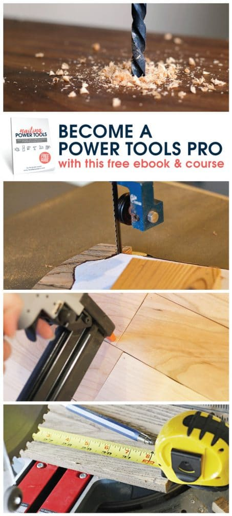 Become a power tools pro with this free 7 day course and get a FREE ebook with all the details you want to know on the 13 most common power tools. Sign up today!