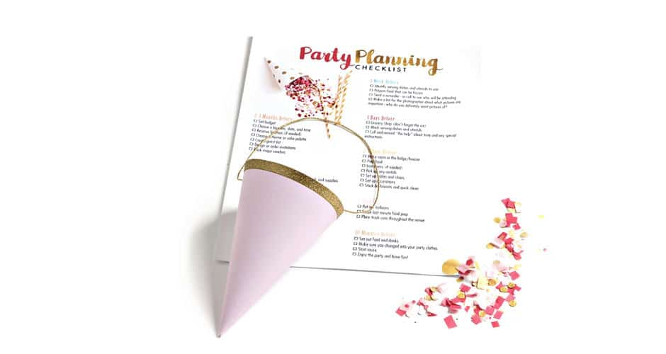 Why You Need a Party Planning Checklist