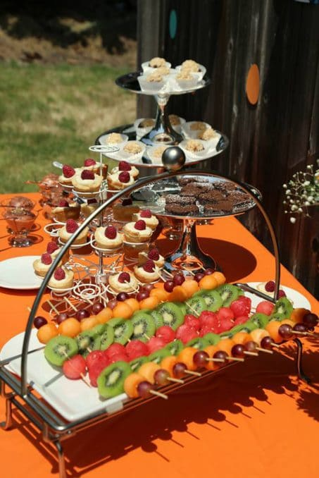 Host a beautiful backyard bridal shower full of lots of DIY ideas, decorations, finger food recipes, and fun game ideas.