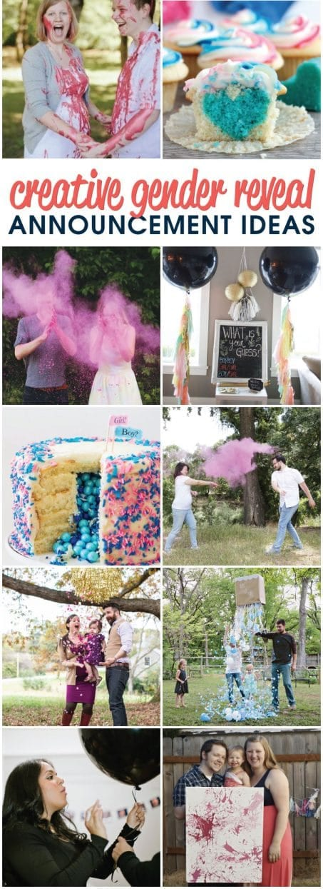 Check out these creative gender reveal announcement ideas to find out the gender of your next baby or announce it to family and friends! Such fun ideas!!
