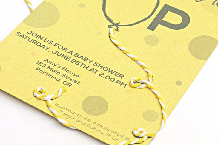 Baby Shower Ready to Pop Party Invitation