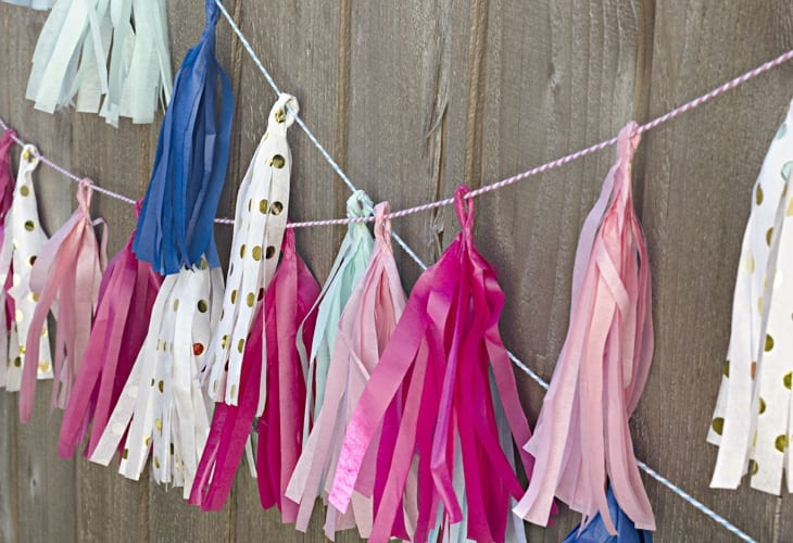 Learn how to make simple tissue paper tassels that are a perfect addition to any party decorations!