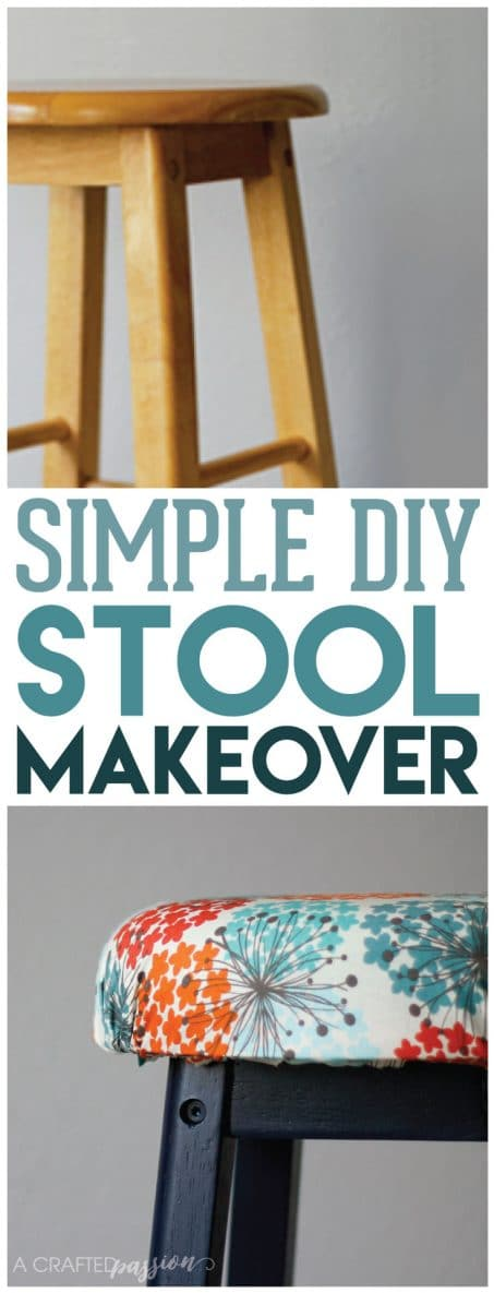 DIY Bar Stool Makeover // All you need is a little paint, foam, fabric, and some TLC to turn an old stool into something GREAT!