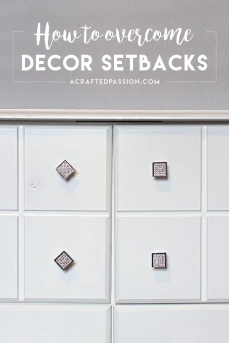 3 Tips to Overcome Decor Setbacks — because we know it happens to the best of us! Sometimes you have brilliant ideas and they don't always go as planned. Here's a few ideas to overcome it and week 4 One Room Challenge progress update!