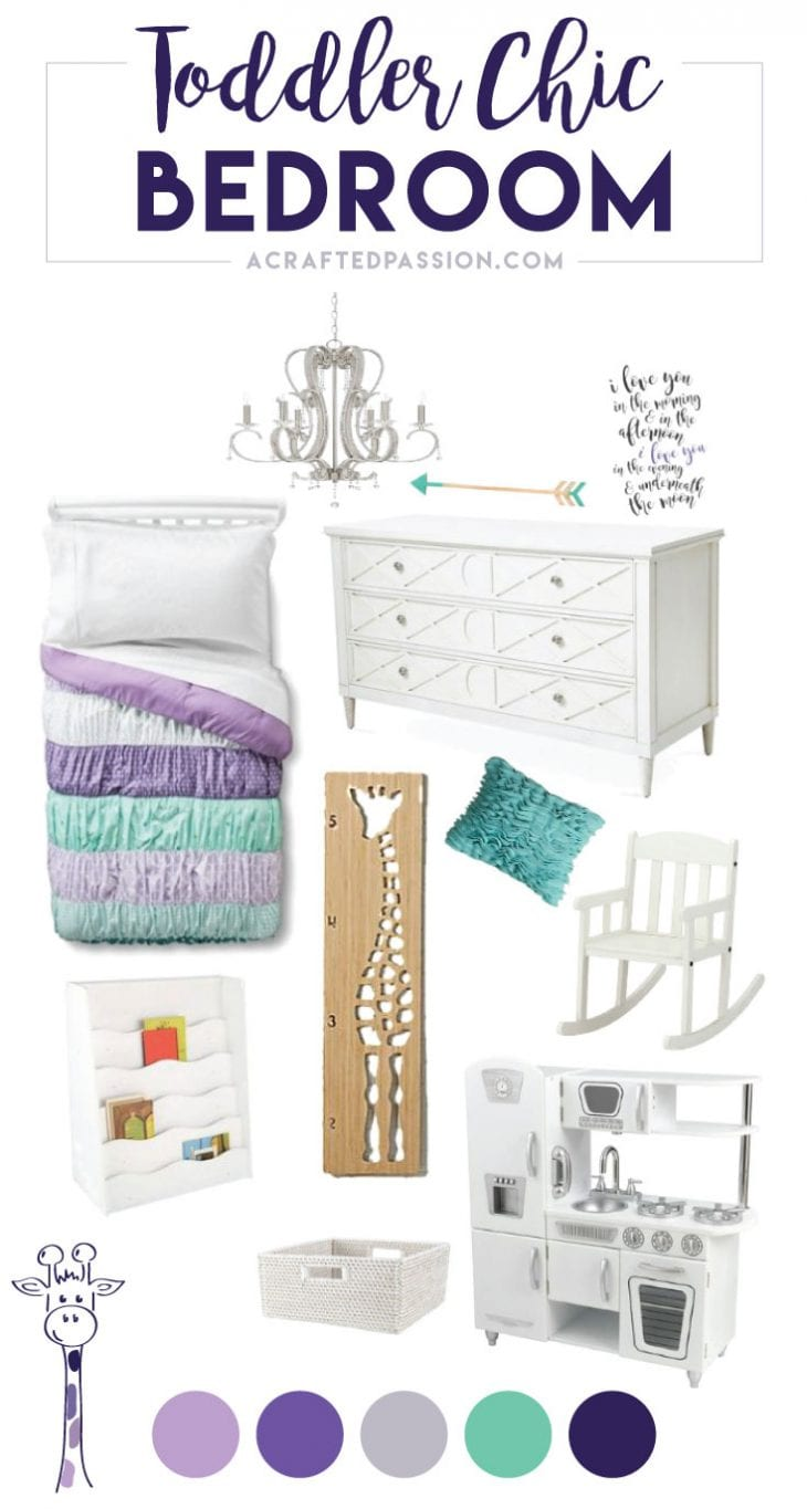 One Room Challenge Week One - Follow along as we transform our guest room into a toddler chic bedroom fit for a little girl that encourages play, learning, and independence.