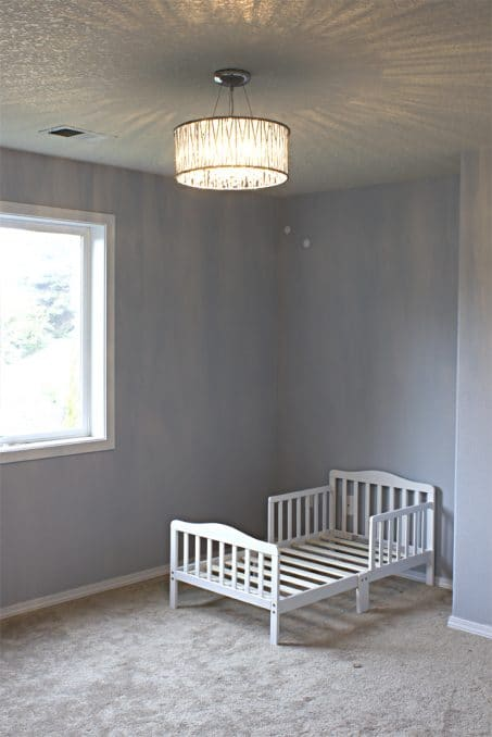 Toddler Bedroom Makeover chandelier