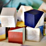 Easy Geometric Wood Blocks for Baby Decor