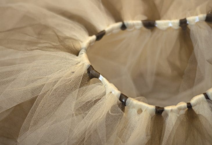 Neutral shakes of tulle image.