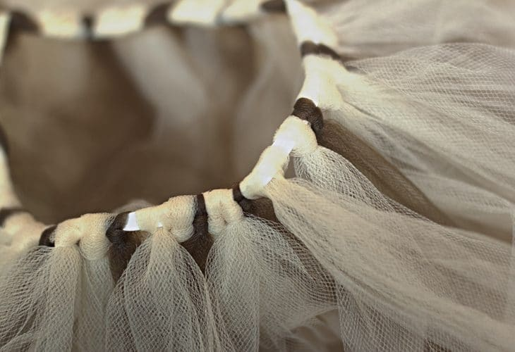 Tulle tied to elastic image.