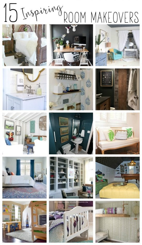15 Inspiring Room Makeovers — all completed in less than 6 weeks from beginning to end!