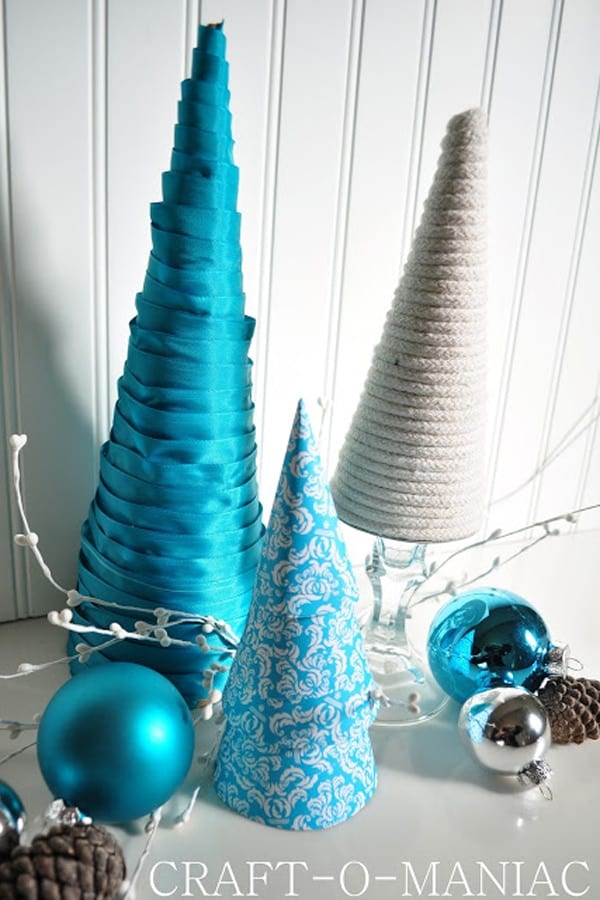 Cones in the shape of Christmas trees image.