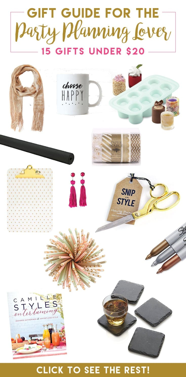 Finding the perfect gift for the party planning friend in your life doesn't have to be difficult! This list nails it with all these GREAT IDEAS!