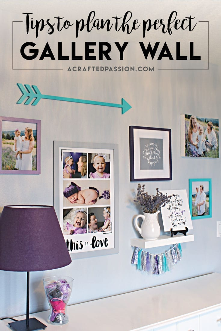 Learn from this simple tips on how to plan a gallery wall for any room in your house! Display those cherished moments with your family on your wall!#diytime #gallerywall #diygellerywall