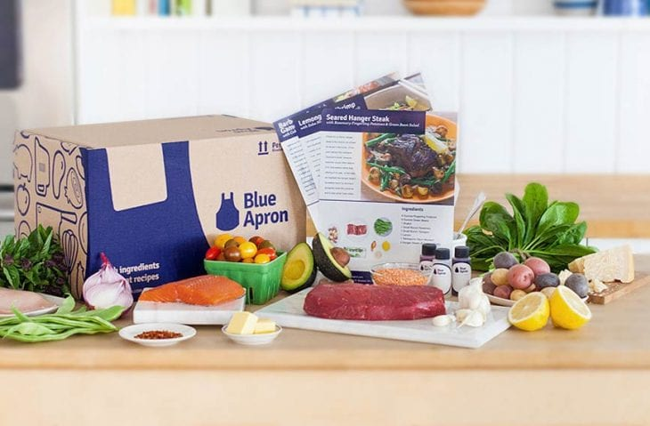 Blue Apron meal service image.