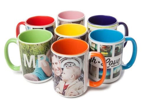 Mugs with pictures of families image.