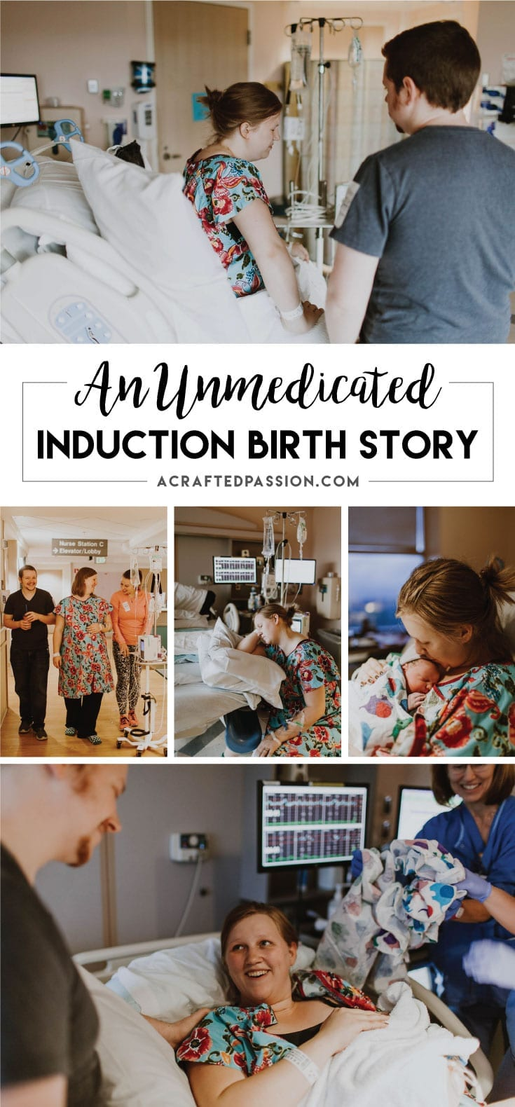 Maggie's Birth Story: It is possible to have a positive unmedicated induction hospital birth. Read all aboutit here!