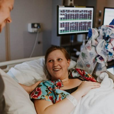Maggie's Birth Story: It is possible to have a positive unmedicated induction hospital birth. Read all about it here!