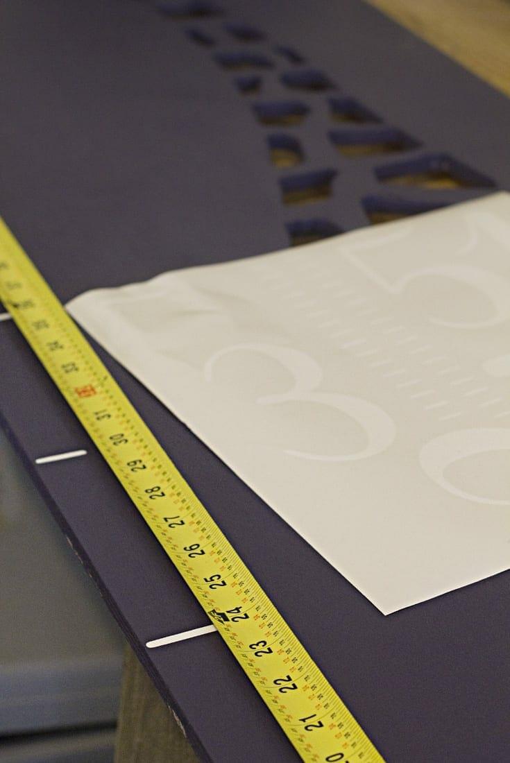 Measuring tape image.