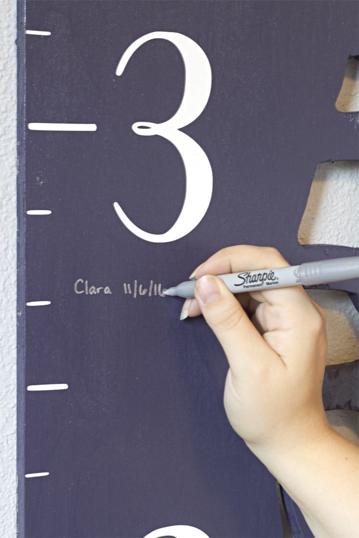 DIY Wooden Growth Chart Idea | How to Make | Printable