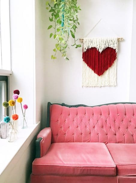 Heart wall hanging image.