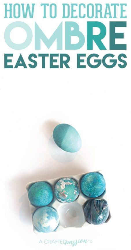 Learn how to decorate ombre easter eggs with just some water, basic food coloring, and an egg. Such a great idea!!