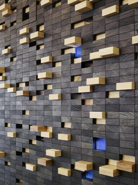 Wood block wall image.