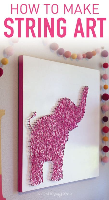 image about Free Printable String Art Patterns With Instructions titled How toward Produce Elephant String Artwork