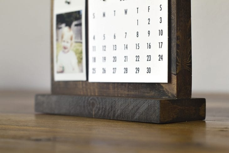 How To Make A Modern Desk Calendar Perfect Father S Day Gift