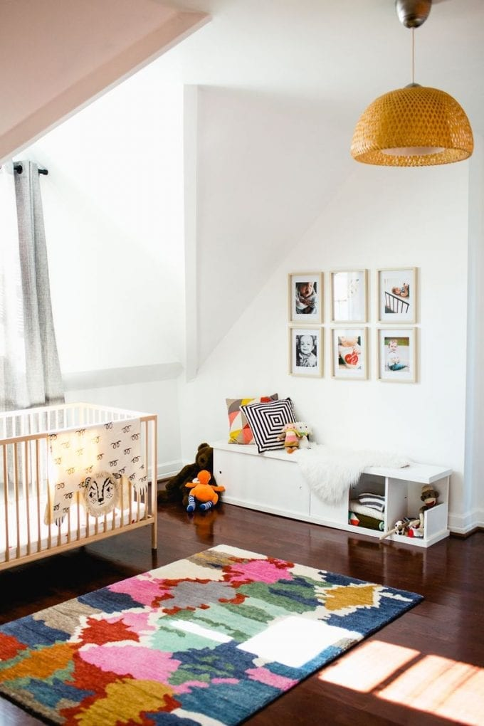 Simple baby nursery room image.