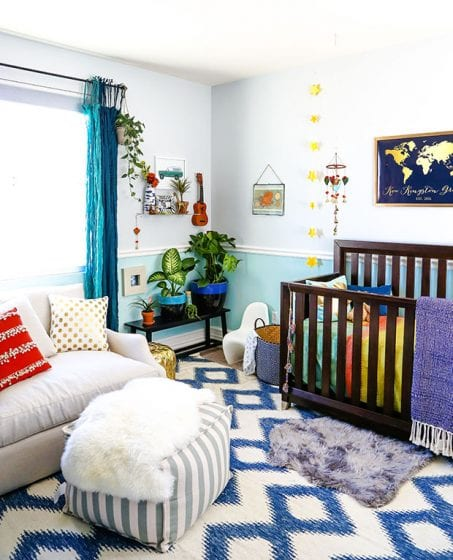 Cozy baby nursery room image.