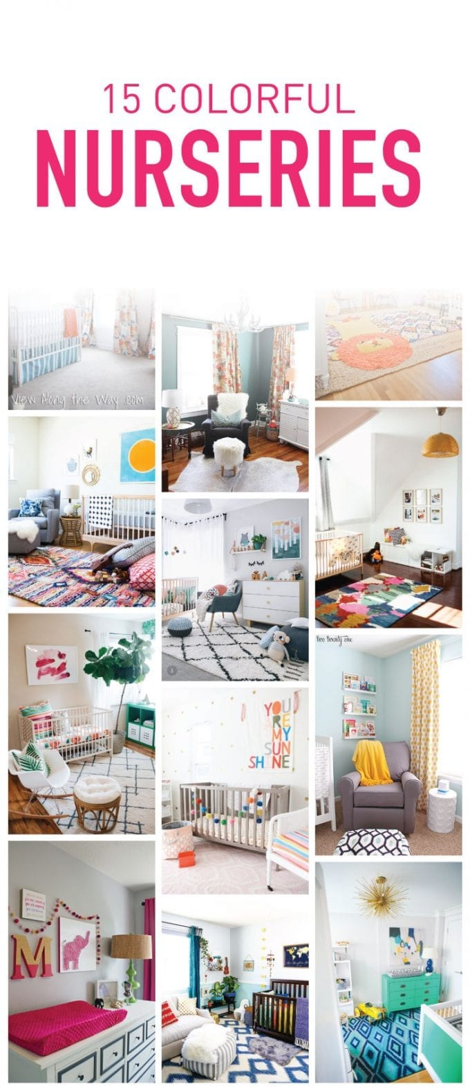 15 Colorful baby nursery ideas image.