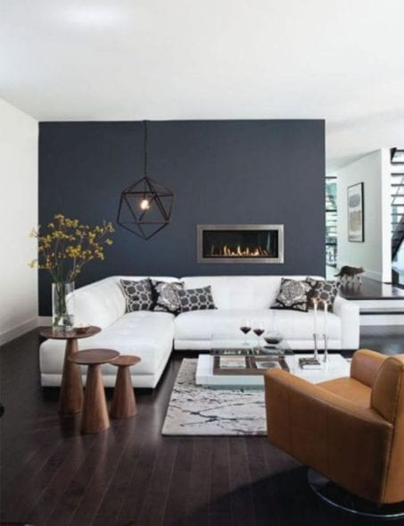Need inspiration? Check out these 13 MODERN LIVING ROOMS for family-friendly decoration ideas while still staying on a budget. #livingroom #modern
