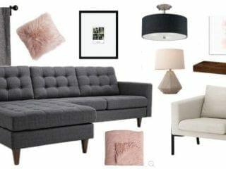 Comfortable Modern Living Room Mood Board