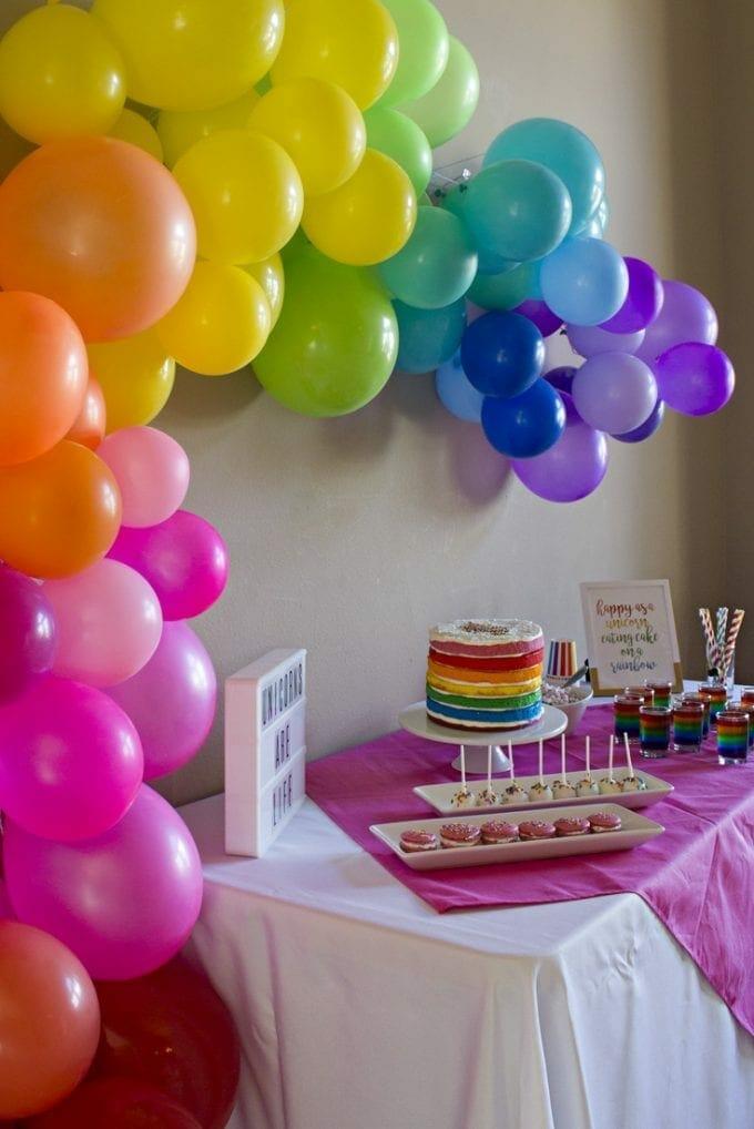 unicorn rainbow birthday party image