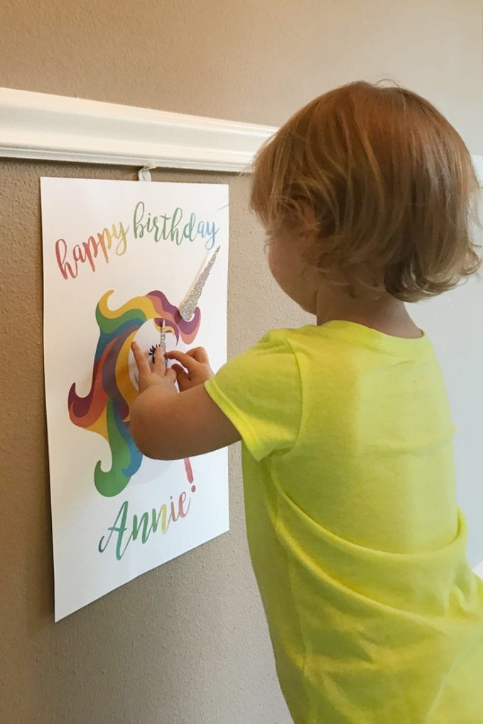 Baby playing the Horn on the Unicorn game image.