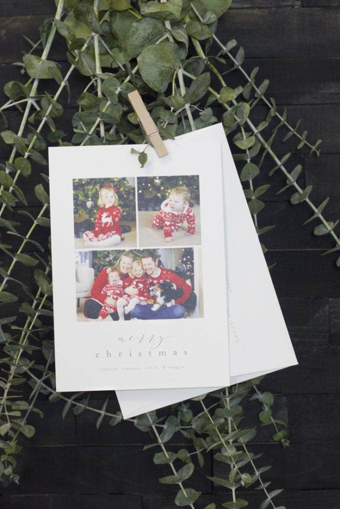 Modern Christmas card gift ideas image.