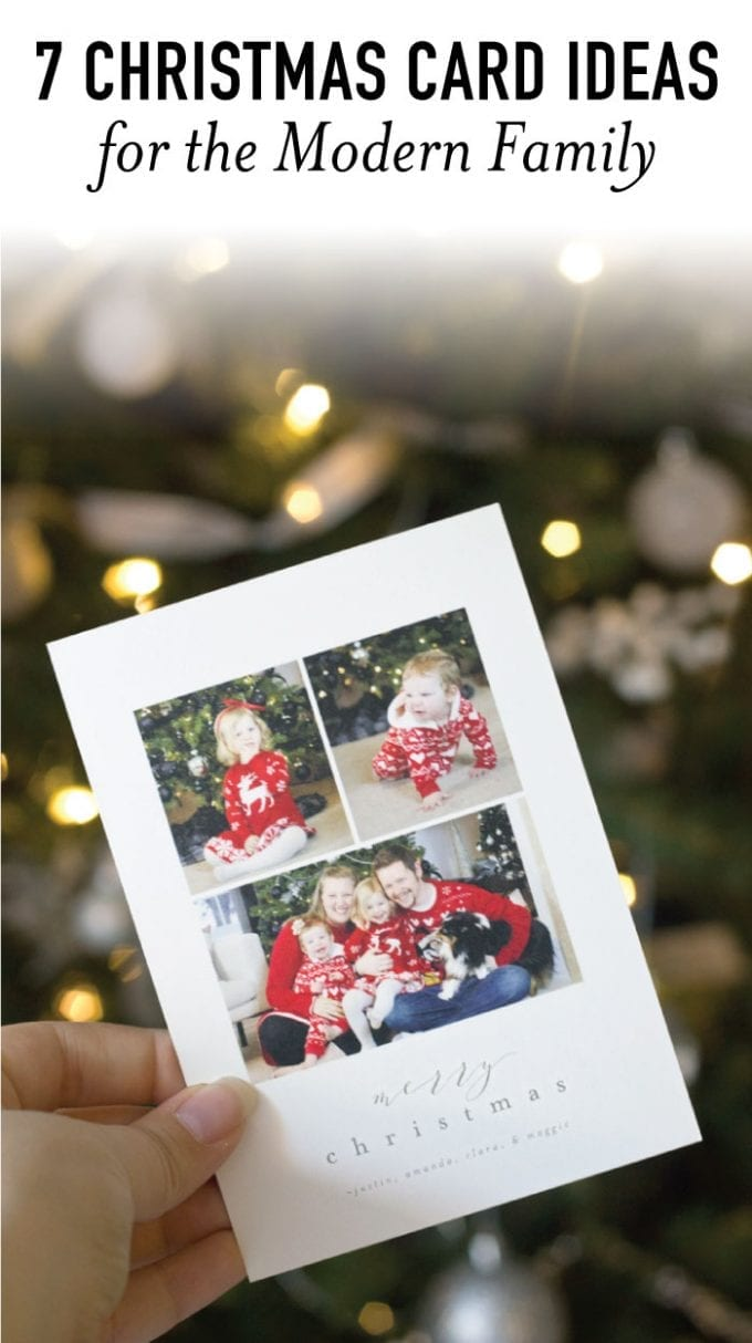 Check one thing off the holiday to-do list! These Christmas card ideas for the modern family are so cute and minimal.