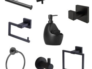 Matte Black Bathroom Accessories