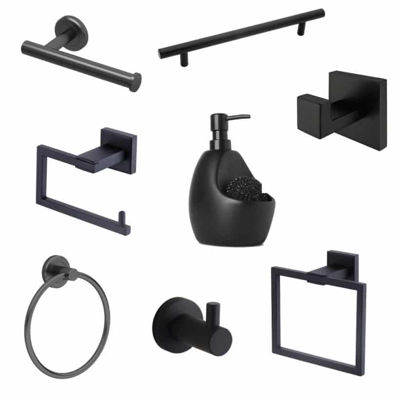Matte Black Bathroom Accessories