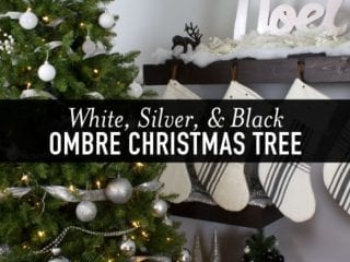 Modern Black, Silver, and White Ombre Christmas Tree